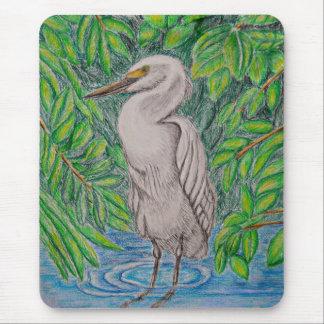 Egret Mouse Pad