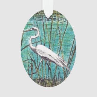 Egret Ornament