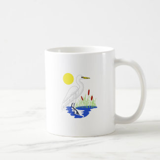 Egret Scene Coffee Mug
