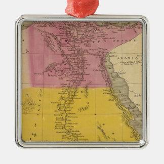 Egypt 11 Silver-Colored square decoration