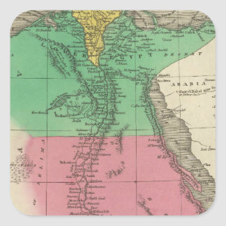 Egypt 12 square sticker