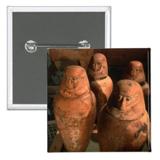 Egypt, 26th dynasty Canopic jars found in Abu 15 Cm Square Badge