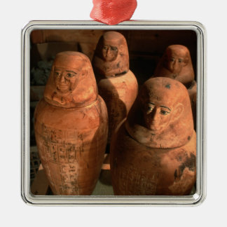 Egypt, 26th dynasty Canopic jars found in Abu Christmas Ornament