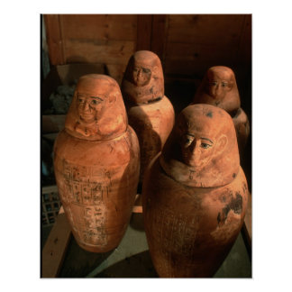 Egypt, 26th dynasty Canopic jars found in Abu Poster