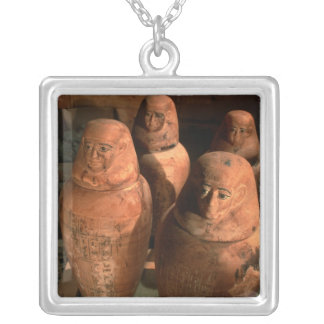 Egypt, 26th dynasty Canopic jars found in Abu Silver Plated Necklace