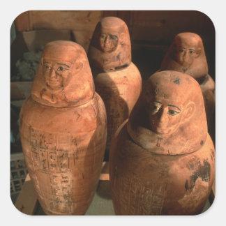 Egypt, 26th dynasty Canopic jars found in Abu Square Sticker