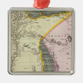 Egypt 4 Silver-Colored square decoration