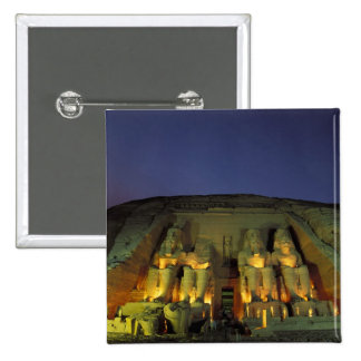 Egypt, Abu Simbel, Colossal figures of Ramesses 15 Cm Square Badge