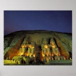 Egypt, Abu Simbel, Colossal figures of Ramesses Posters