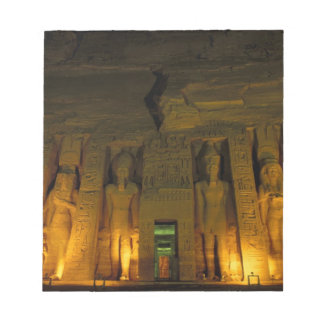 Egypt, Abu Simbel, Lighted facade of Small Notepad