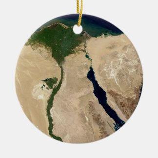 Egypt Aerial View Christmas Ornament