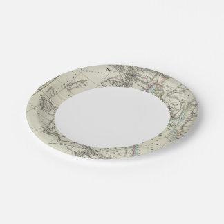 Egypt and Saudi Arabia Paper Plate