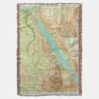 Egypt and the Nile Throw Blanket