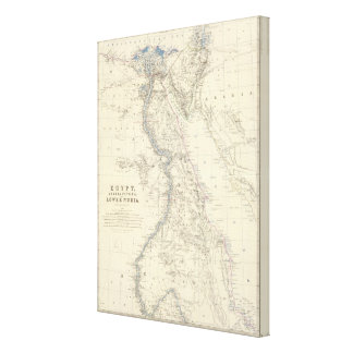 Egypt, Arabia Petraea, Nubia Canvas Print