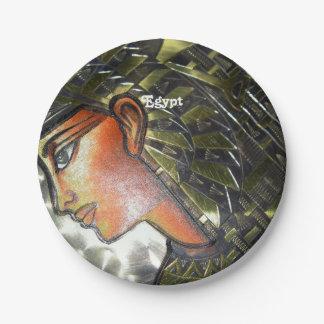 Egypt Art Paper Plate