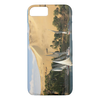 Egypt, Aswan, Nile River, Felucca sailboats, 2 iPhone 8/7 Case