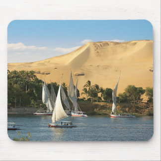 Egypt, Aswan, Nile River, Felucca sailboats, 2 Mouse Mat
