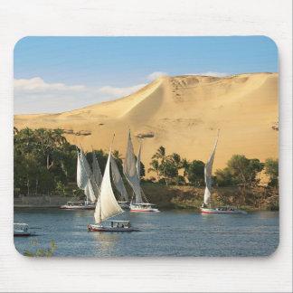 Egypt, Aswan, Nile River, Felucca sailboats, 2 Mouse Pad