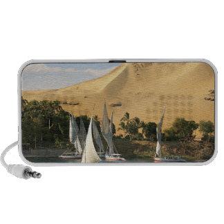 Egypt, Aswan, Nile River, Felucca sailboats, 2 Travel Speakers