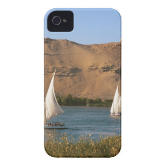 Egypt, Aswan, Nile River, Felucca sailboats, iPhone 4 Case-Mate Case