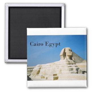Egypt Cairo Giza Sphinx-2 (St.K) Square Magnet