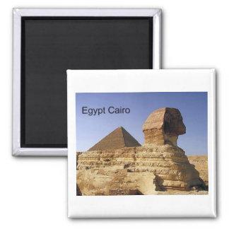 Egypt Cairo Giza Sphinx (St.K) Square Magnet