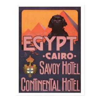 Egypt Cairo Savoy Hotel Postcard