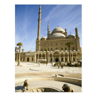 Egypt, Cairo. The imposing Mohammed Ali Mosque Postcard