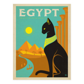 Egypt Cat Postcard