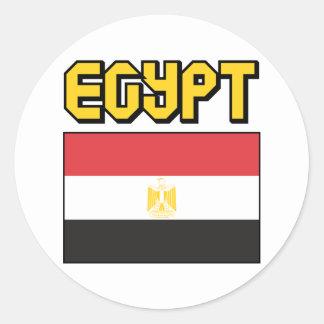 Egypt Classic Round Sticker