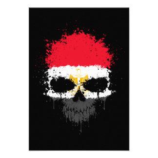 Egypt Dripping Splatter Skull Personalized Announcement