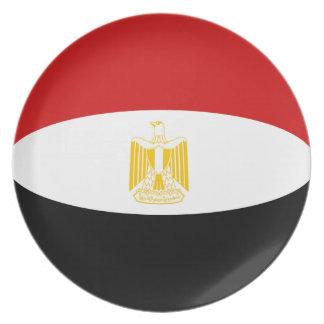 Egypt Fisheye Flag Plate