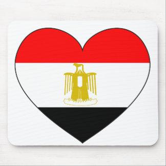 Egypt Flag Heart Mouse Mat