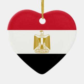 Egypt Flag Heart Ornament