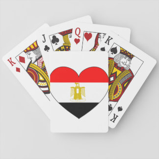 Egypt Flag Heart Playing Cards