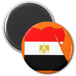 Egypt flag map 6 cm round magnet