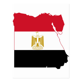 Egypt Flag map EG Postcard