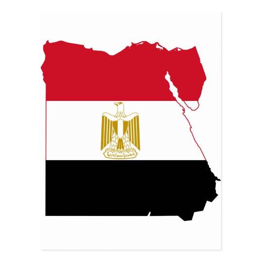 Egypt Flag map EG Postcard