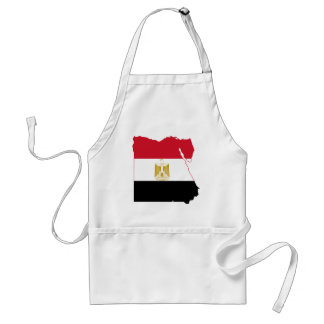 Egypt Flag map EG Standard Apron