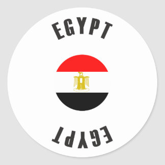Egypt Flag Wheel Classic Round Sticker