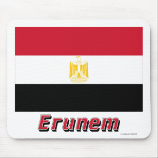 Egypt Flag with name in Russian Mouse Pad