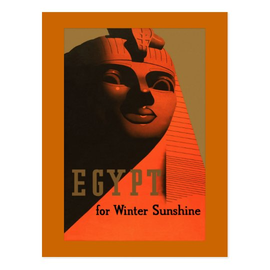 Egypt for Winter Sunshine Vintage Travel Postcard
