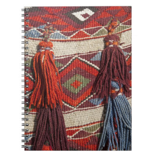 Egypt, Giza. Camel blanket at the Pyramids of Notebook