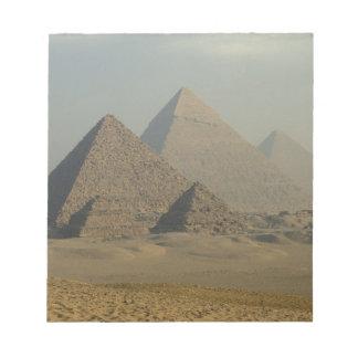 Egypt, Giza, Giza Pyramids Complex, Giza Plateau Notepad