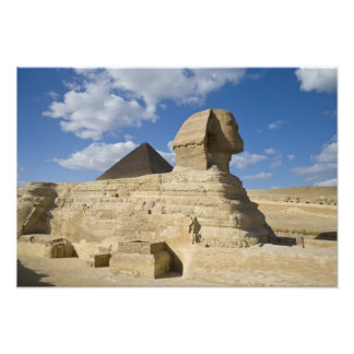 Egypt, Giza. The great Sphynx rises above the 2 Photo Art