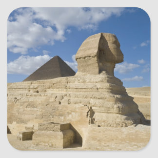 Egypt, Giza. The great Sphynx rises above the 2 Square Sticker