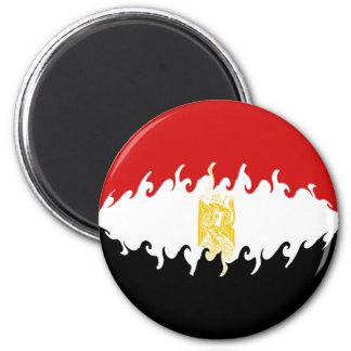 Egypt Gnarly Flag 6 Cm Round Magnet