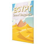 Egypt - Home of the Pyramids travel poster print Canvas Print