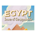 Egypt - Home of the Pyramids travel poster print Postcard