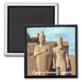 Egypt, Karnac Temple, Pharaos 2 (Fridge Magnet) Square Magnet